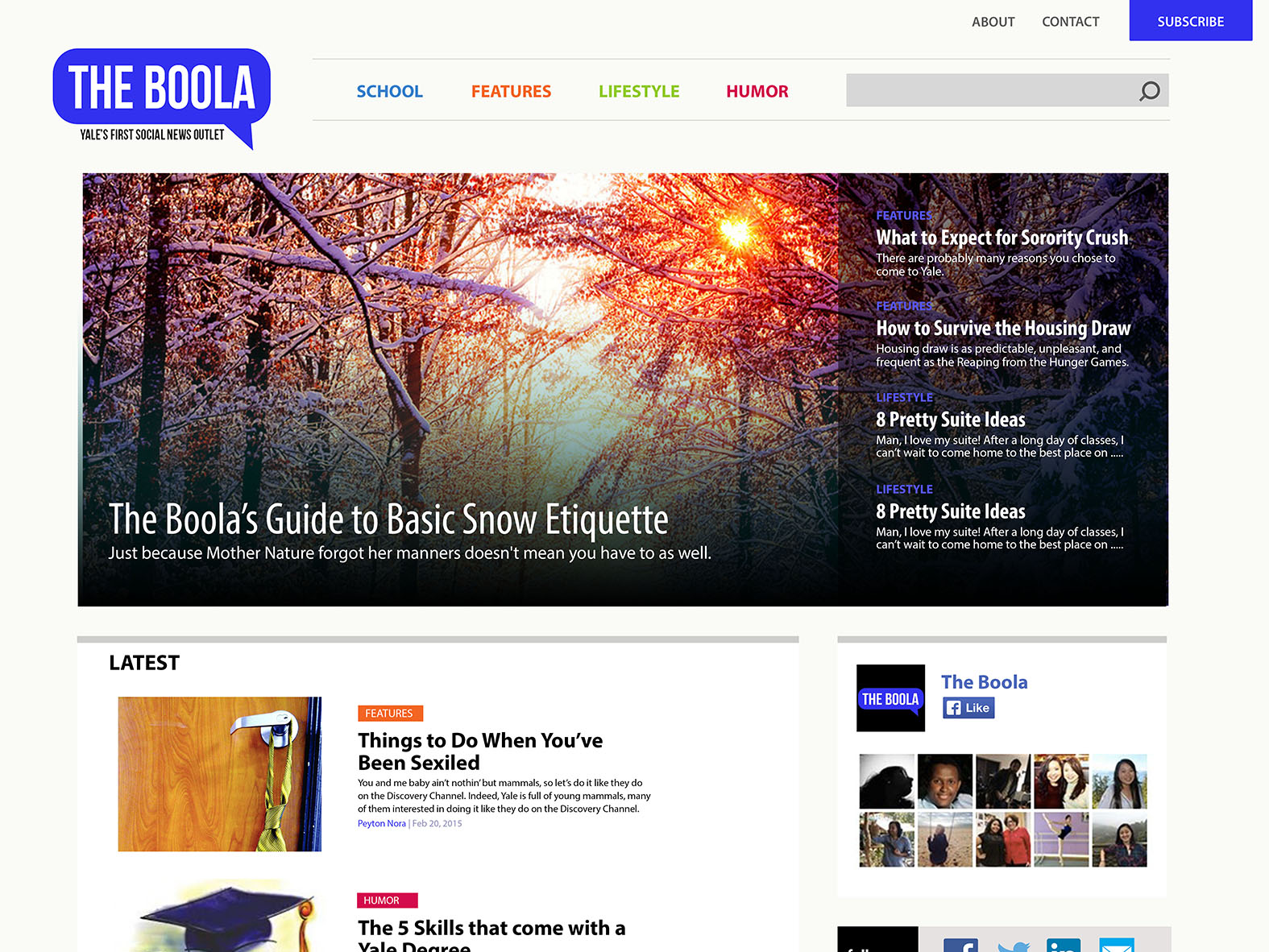 TheBoola Website Design