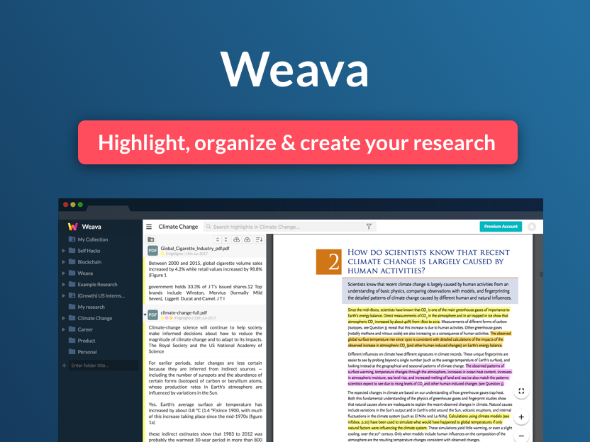 Weava Research Tool